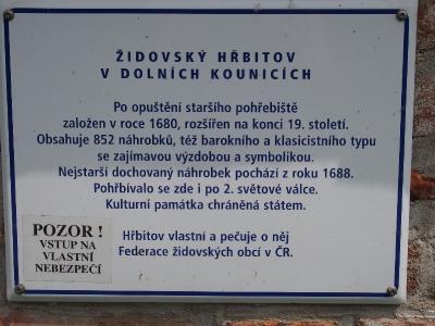 Židovský hřbitov Dolní Kounice_2